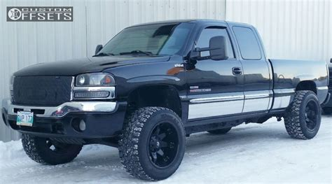 electric and cars manual 2003 gmc sierra 2500 electronic toll collection wheel offset 2003 gmc sierra 2500 hd super aggressive 3 5 leveling kit custom rims offsets garage