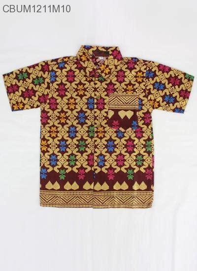 Kemeja Anak Katun Kombinasi Size 13 15 Kemeja Batik Anak Prodo Motif Songket Kemeja Murah