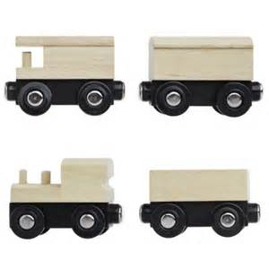 cheap brio train sets unpainted wooden train cars compatible with thomas