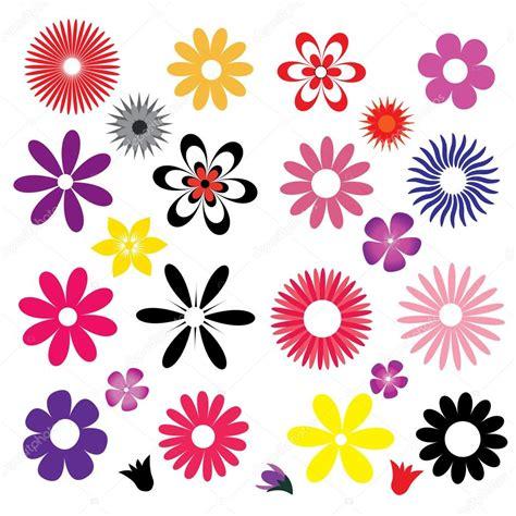 un insieme di fiori un insieme di fiori colorati vettoriali stock 169 ekays
