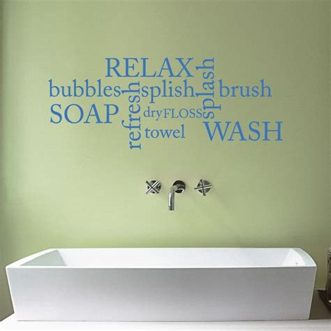 bathroom wall words bathroom word cloud vinyl wall sticker decal quote qu427