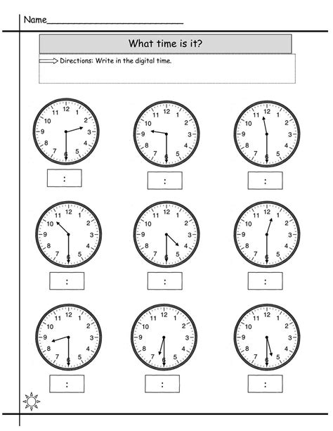 free printable time math sheets blank clock worksheet to print activity shelter kids