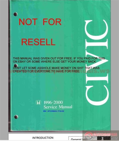 free service manuals online 2000 honda civic navigation system honda civic ej6 ej7 ej8 1996 2000 service manual auto repair manual forum heavy equipment