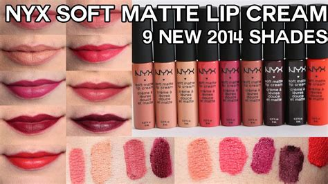 Nyx Matte Me Ultra Smoth Mate Lip new nyx soft matte lip creams for 2014 swatches review oliviamakeupchannel
