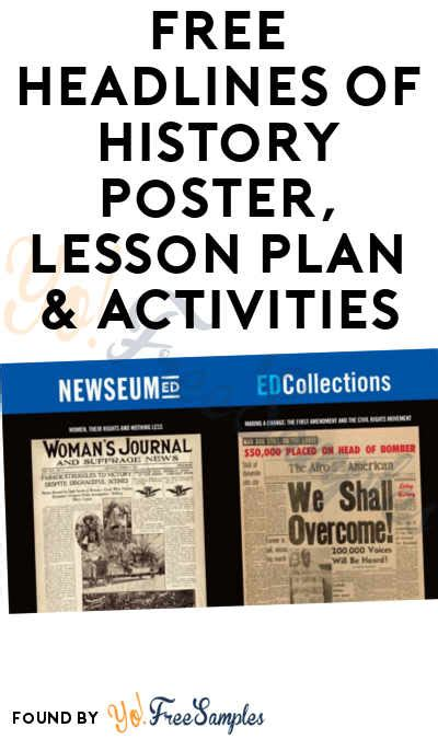 poster layout lesson plan free headlines of history poster lesson plan activities
