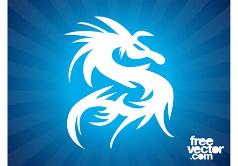 dragon silhouette tattoo download free vector art stock