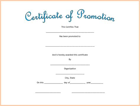 Promotion Card Template Free Word by Search Results For Attendance Certificate