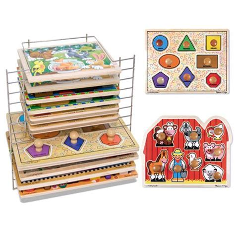 And Doug Wire Puzzle Rack by And Doug Jumbo Knob Puzzle Set With Large Shapes