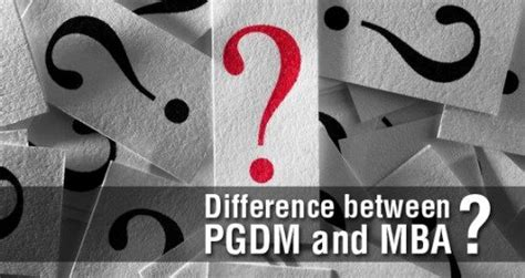 Difference Between An Mba And A Pmba by What Should I Prefer To Do Business Pgdm Or Mba Quora