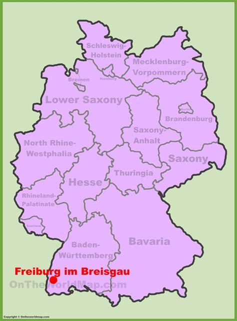 map of freiburg freiburg location on the germany map
