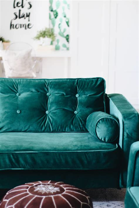 ikea blue velvet custom slipcovers in velvet for the ikea karlstad from
