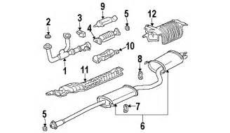 Honda Pilot Exhaust System Diagram 2003 Honda Pilot Parts Discount Factory Oem Honda