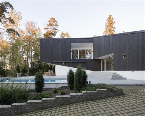modern house architecture joins  nature