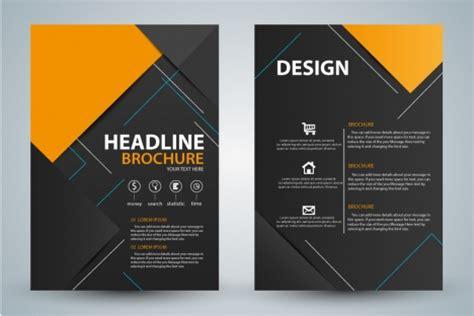 flyer design templates cdr brochure design with modern black background vectors stock