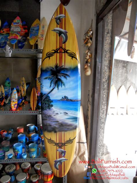 airbrush surfboards wood decorations  bali indonesia