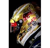 Sebastian Vettels New Gold Helmet Design