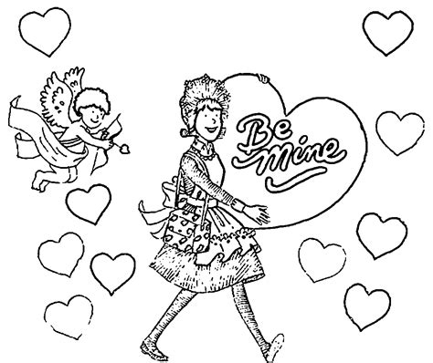 amelia bedelia coloring pages images amelia bedelia valentine coloring page wecoloringpage