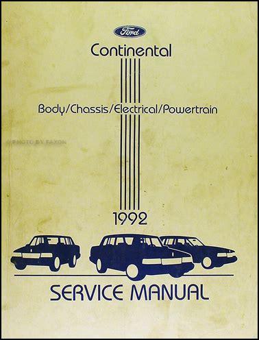 online car repair manuals free 1992 lincoln continental spare parts catalogs 1992 lincoln continental repair shop manual original
