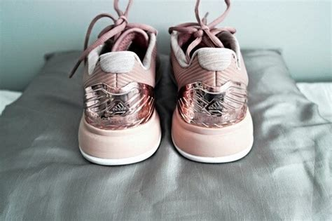 adidas cool pink gold shoes image 3769911 by taraa on favim
