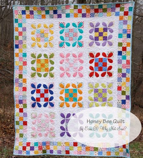 Bee Quilt Pattern Free why not sew honey bee quilt with patchwork borders