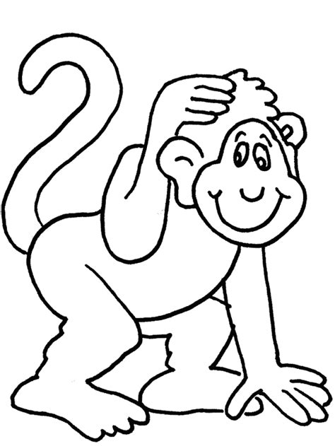 spider monkey coloring page coloring home