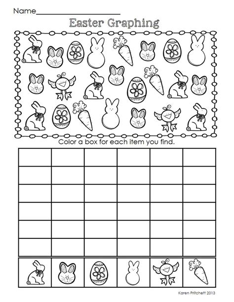 printable picture graphs kindergarten easter graphing crafts and worksheets for preschool