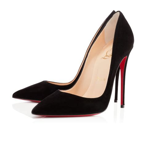 christian louboutin so kate 120 mm black suede