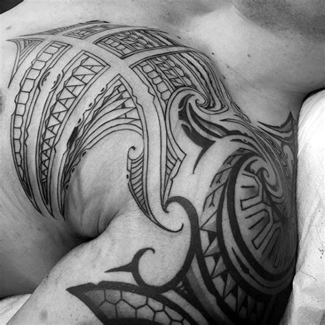 shoulder cap tattoos for men 70 sick tribal tattoos for cool masculine design ideas