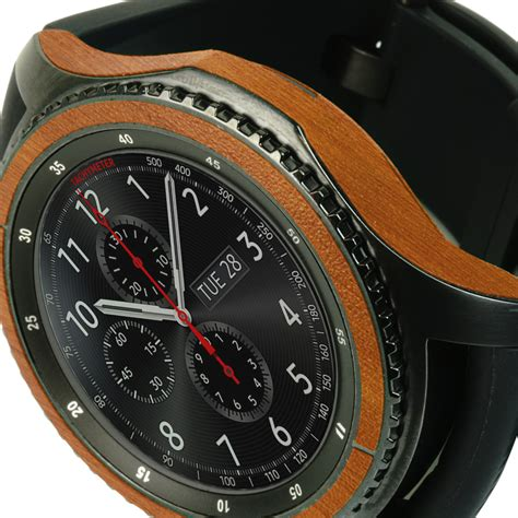samsung gear s3 frontier techskin light wood skin sm r760 46mm