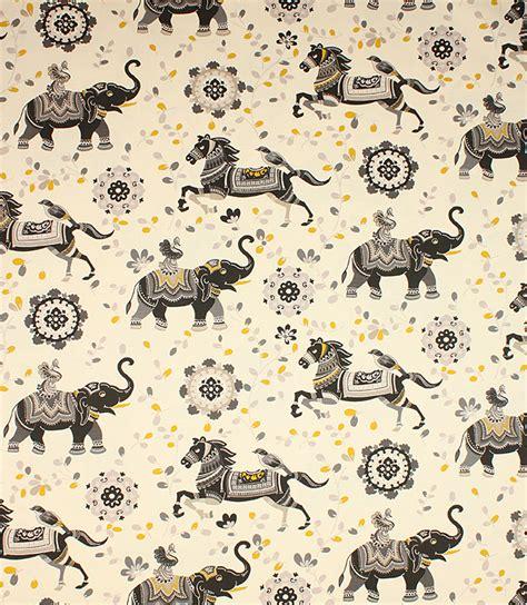 Black Upholstery Fabric Uk by Black Rajah Fabric Just Fabrics