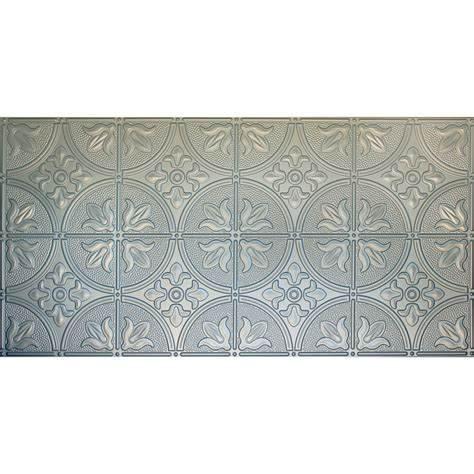 surface mount ceiling tiles shop dimensions nickel faux tin surface mount ceiling tile common 48 in x 24 in actual 48 5