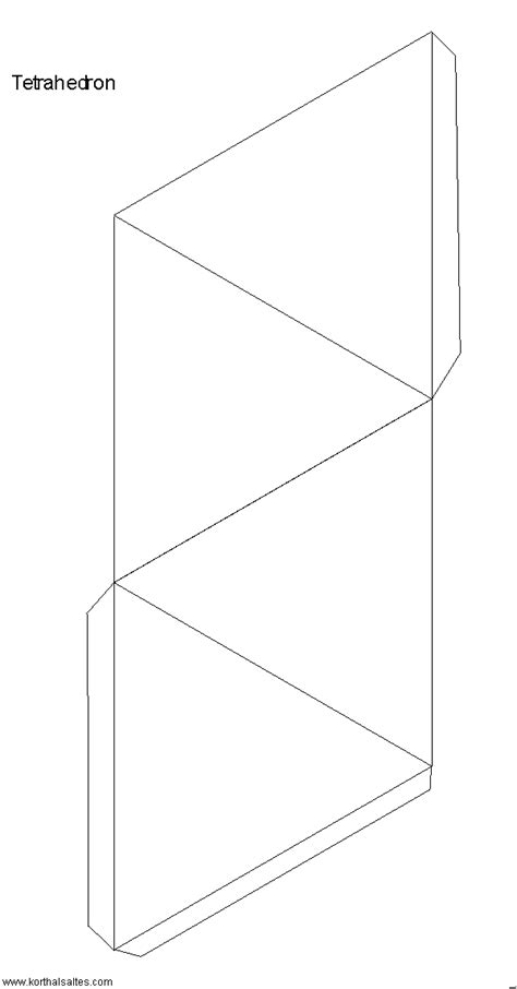 tetrahedron template paper tetrahedron
