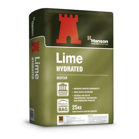 hanson castle 25kg bag hydrated lime