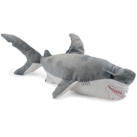 shark plush large plush great white shark conservation critter by