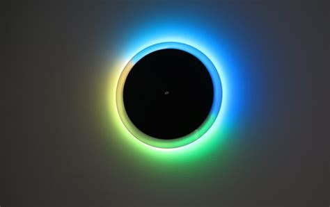 Jm Lu Led Colok led light clock turns your entire wall into a colorful