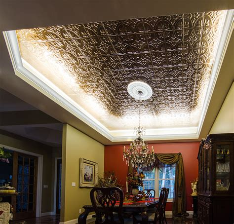 led ceiling cove lighting eclectic dining room st