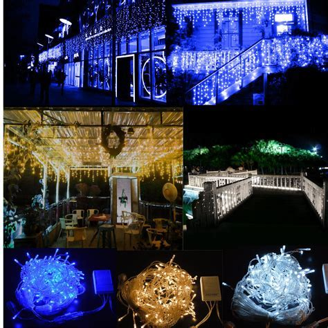 150/300 LED Fairy Curtain Icicle String Lights For Wedding