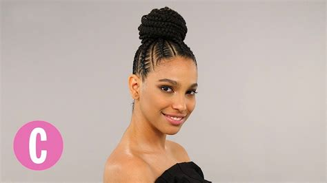 this braided bun will make you want to step up your hair the braid up cosmopolitan