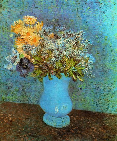 Vase With Flowers Gogh by Vase With Flowers Painting By Gogh