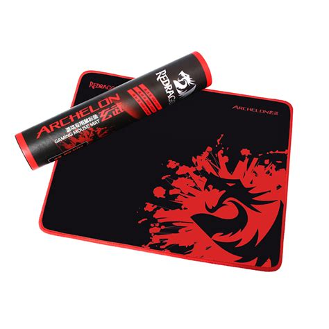 Pro Gamer Mouse Pad original redragon pro gaming mouse pad with locking edge 5mm thickness waterproof rubber gamer