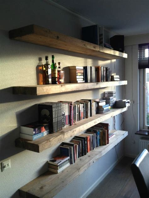 attach bookcase to wall creative homemade bookshelves with the unique decoration