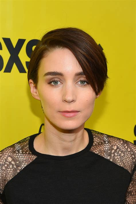 rooney mara short hair rooney mara is a casual robot in saint laurent at sxsw