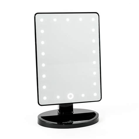 black lighted makeup mirror impressions vanity touch 2 0 dimmable led makeup mirror in