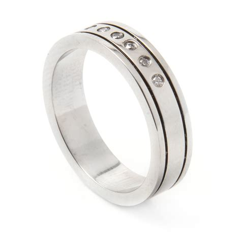 stainless steel jewelry s stainless steel cz ring ssrb028