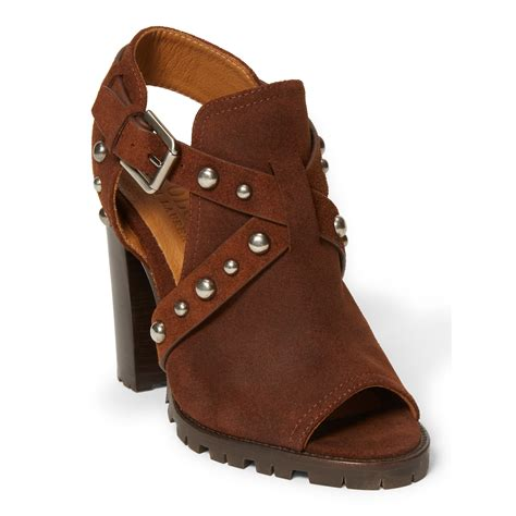 polo ralph sandals polo ralph noelle studded leather sandal in brown