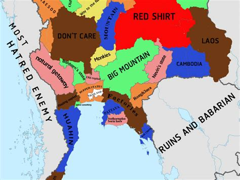 houston map politically incorrect how bangkokians see rest of thailand according to