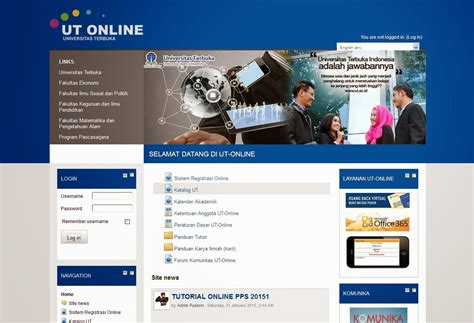 tutorial oneline ut pengumuman migrasi website tutorial online universitas