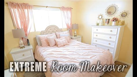 an extreme bedroom makeover process extreme bedroom makeover before after blush white