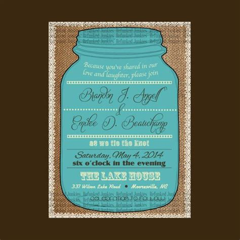 jar invitation template template jar invitation burlap background lace