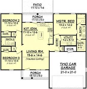 1300 Sq Ft House European Style House Plan 3 Beds 2 Baths 1300 Sq Ft Plan